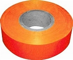 Orange Hi-Vis Flagging Per Roll