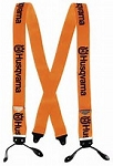 Husqvarna Button Suspender Orange