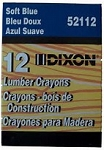 52112 Soft Blue Lumber Crayon 12 Per Pack