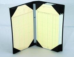 10 Page Tally Book w/Leather Strap Hold's 10 Sheet's