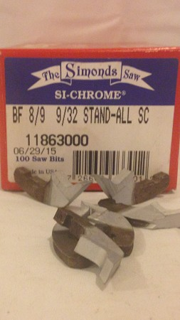 BF 8/9 9/32 Standall Si-Chrome Per Box Of 100